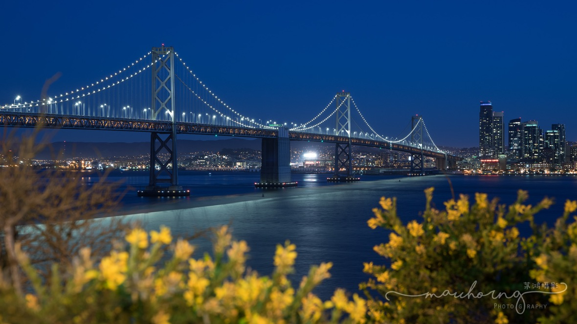 Bay Bridge after Sundown
